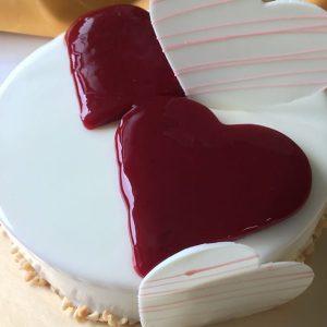 6吋莓果慕斯白巧克力蛋糕